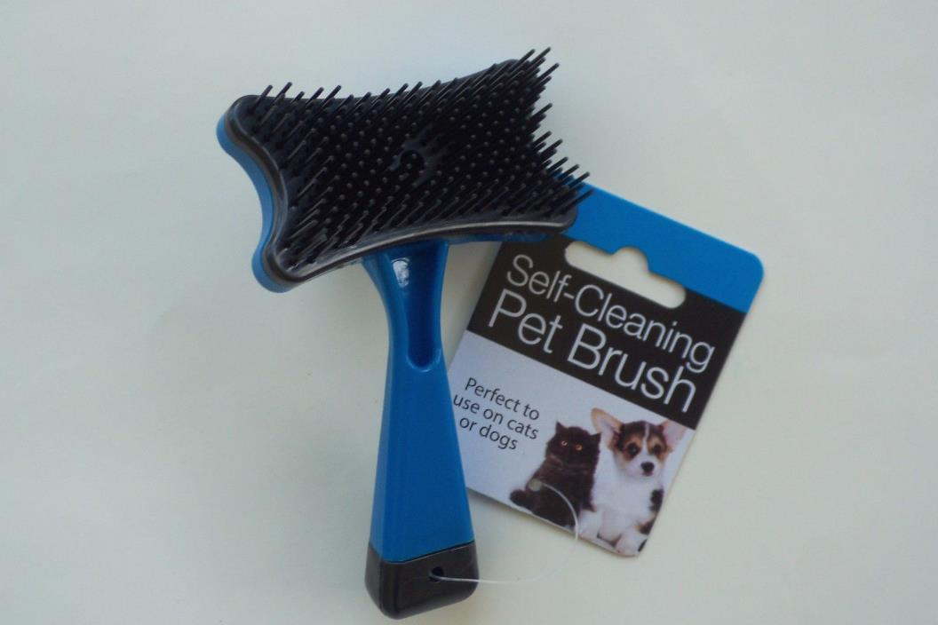 Pet Grooming Brush For Cat or Dog Push Button Self Cleaning