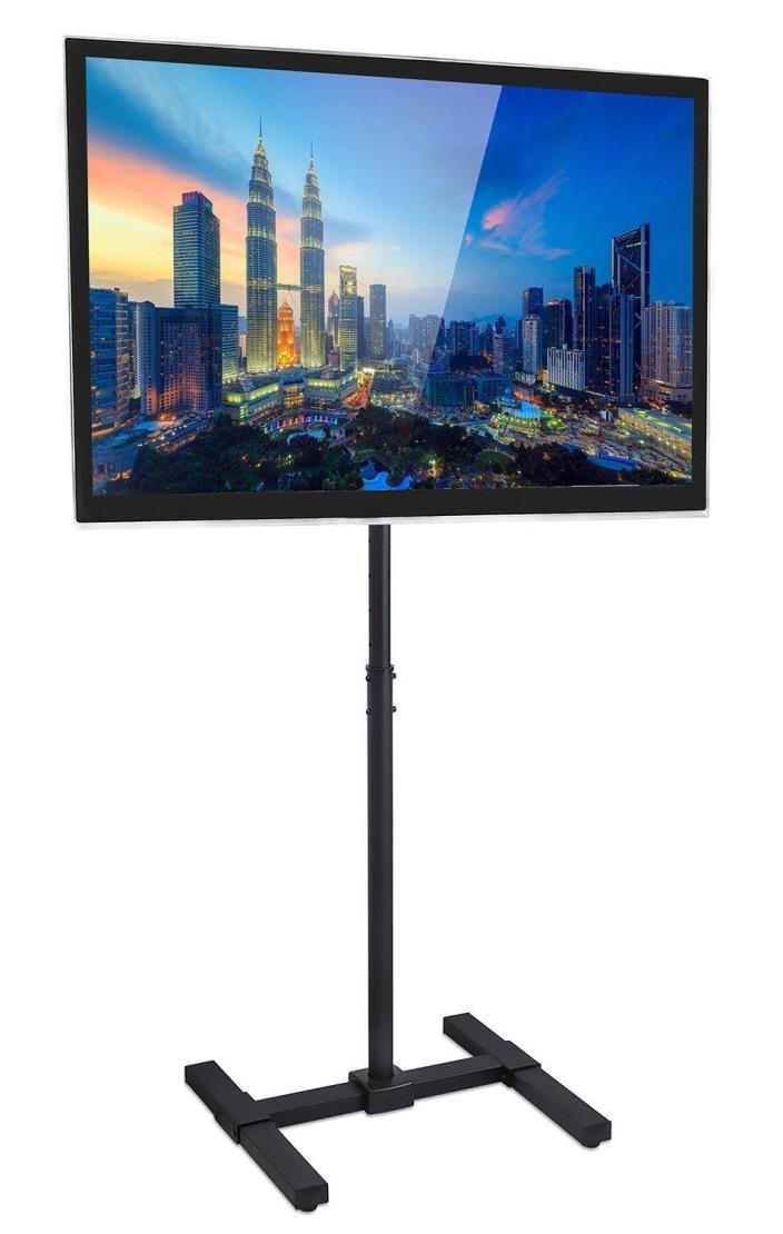Mount-It! TV Floor Stand Portable TV Pedestal Display Height Adjustable Pole