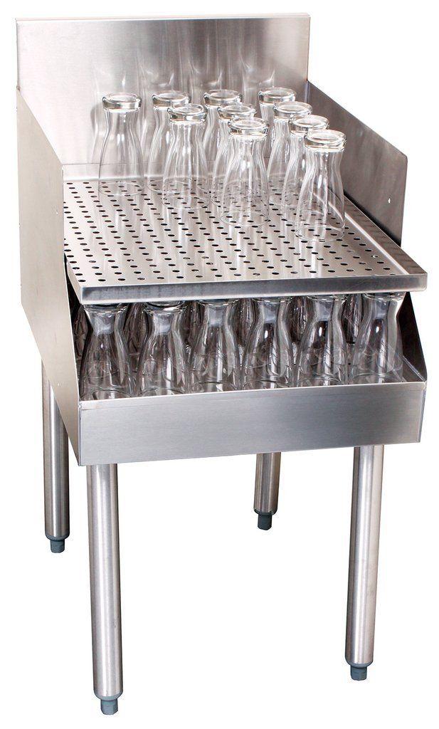 Glastender C-RDB-12 Stainless Steel Recessed Drainboard 12