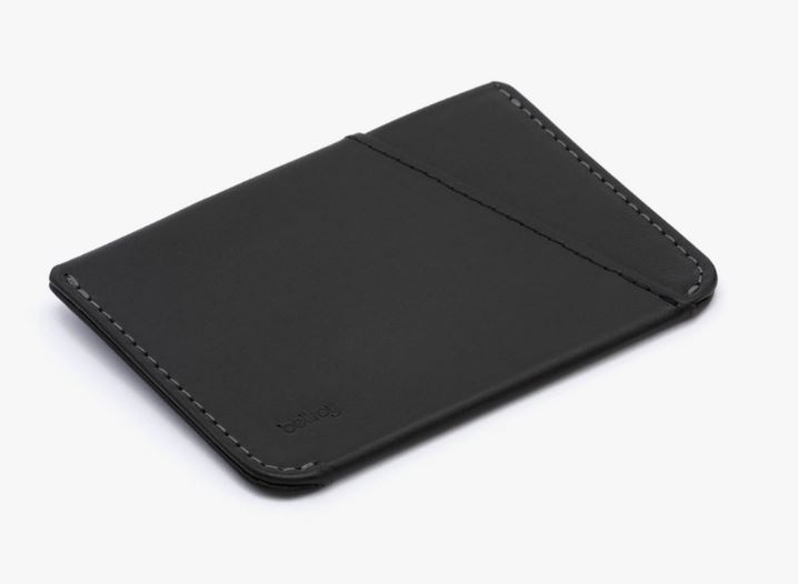 Bellroy Unique Micro Slim Sleeve Leather Wallet For Men Elegant Black