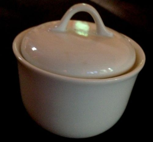 White Covered SUGAR BOWL ~ (CORELLE Corning)