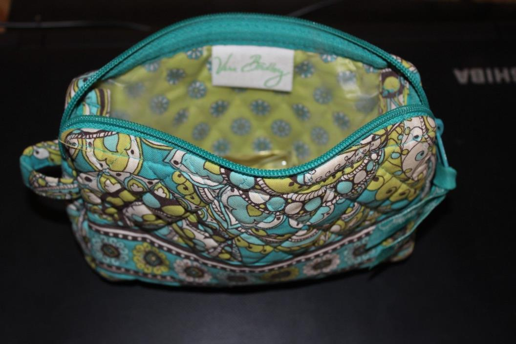 Vera Bradley   Small  makeup / accessary bag Turquoise blue/green  Paisley