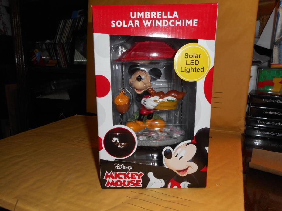 Disney Mickey Mouse solar umbrella windchime