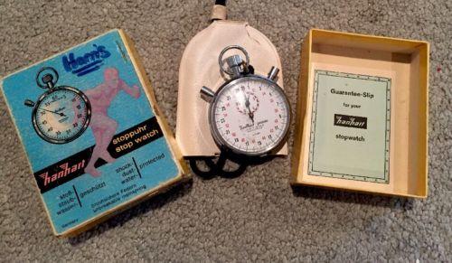 HANHART - Vintage ADDITION TIMER Mechanical Stopwatch LEVER 7 JEWELS