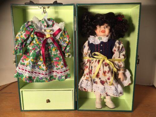 Lasting impressions Bisque Porcelain doll- Black Curls