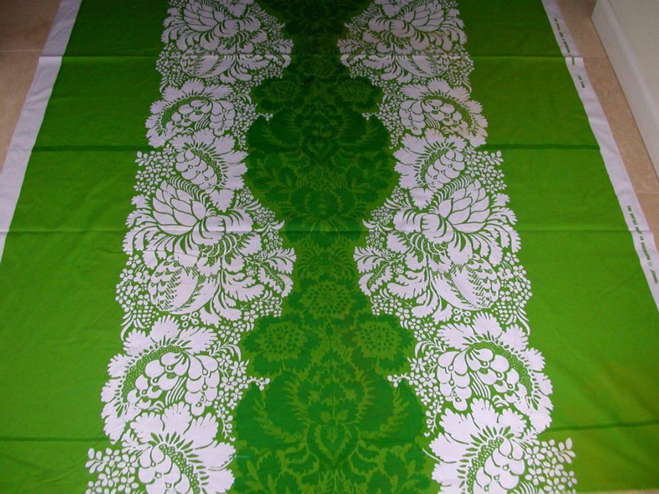 Vtg 1963 MARIMEKKO Finland Cotton Canvas Fabric Maija Isola
