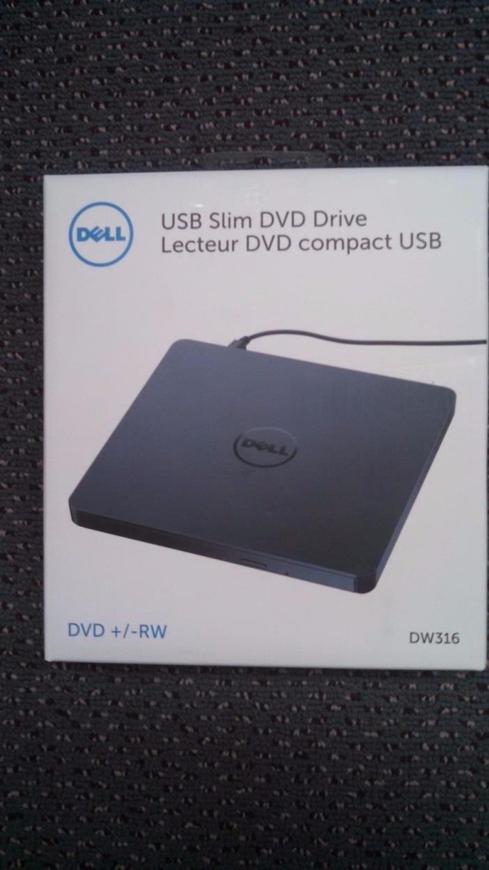Dell (DW316) USB Slim DVD +/- RW Drive