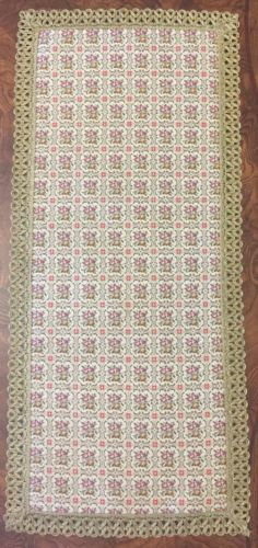 VINTAGE Estate TAPESTRY TABLE RUNNER~ 29