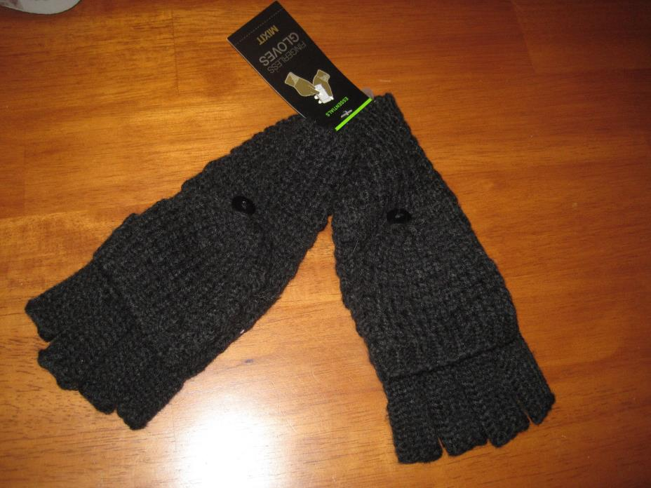 NWT MIXIT black fingerless gloves knit  (V31)