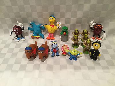 Vintage Sesame Street Figures Lot + California Raisins + Shrek