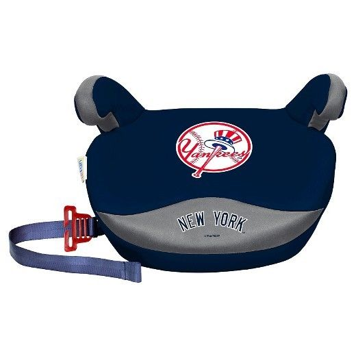 MLB Lil Fan Box Seat Premium Slimline No Back Baby Seat Booster New York Yankees
