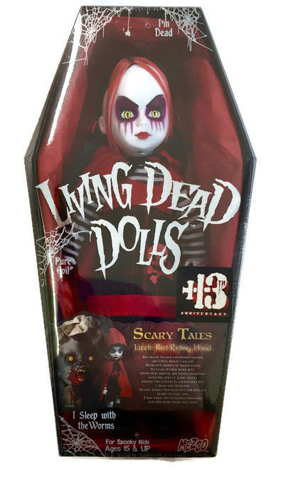 Living Dead Dolls Scary Tale Little Red Riding Hood Sealed in Coffin Shaped Box