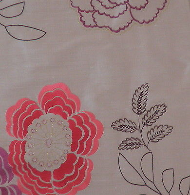 DESIGNERS GUILD Anastasia silk flower viscose embroidery India new remnant