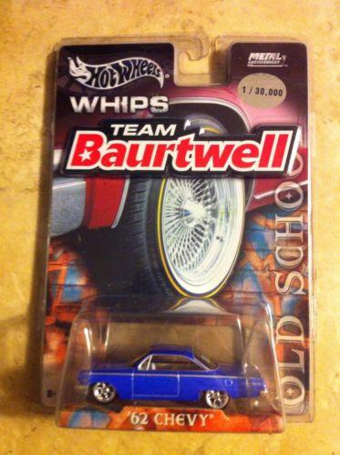 Hot Wheels Whips Team Baurtwell '62 Chevy BLUE 1:64 1/30000 Car