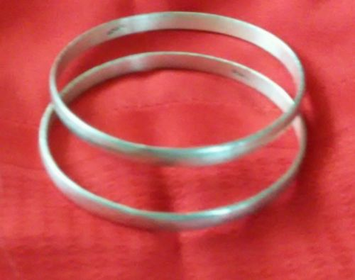 Vintage 925 silver 2 bangle bracelets from Mexico
