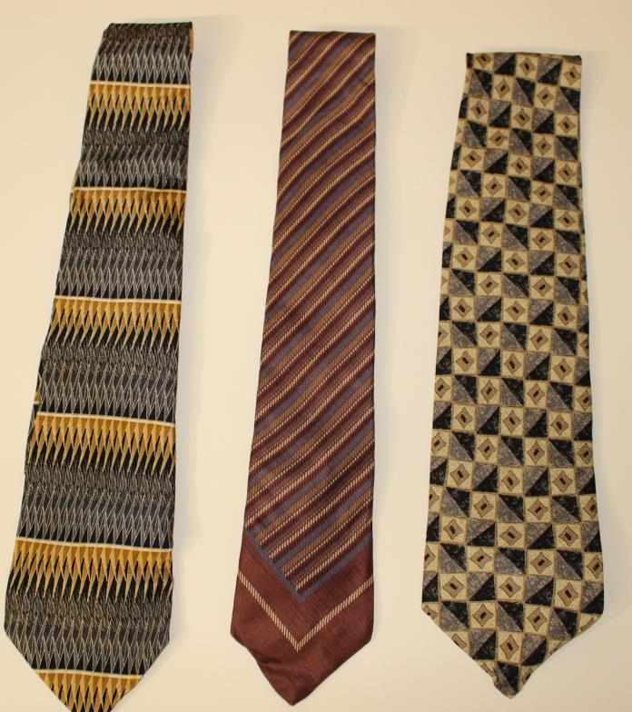 3 Mens Ties Pierre Cardin Hagger Todays Man Set of 3 Amazing Ties