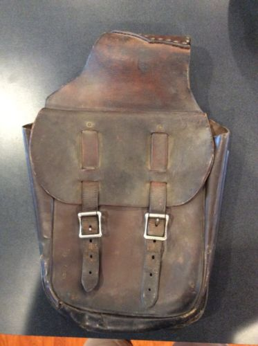 VINTAGE MAKER MARKED E. M. BACON GLOBE ARIZ. LEATHER WESTERN SADDLE BAGS REDUCED