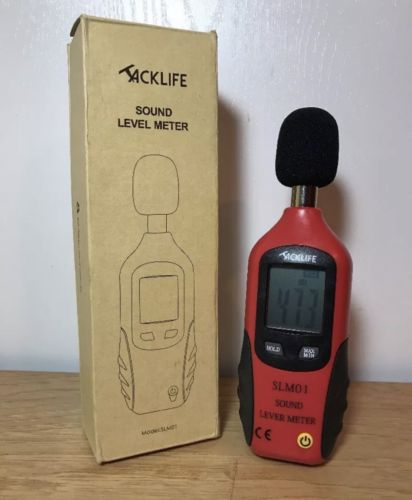 Tacklife Digital Decibel Sound Pressure Meter Noise Level Tester Measurement