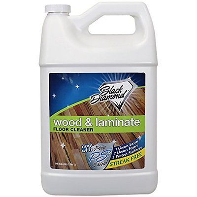 Floor Cleaners Black Diamond Wood & Laminate Floor Cleaner 1-Gallon For Real, &