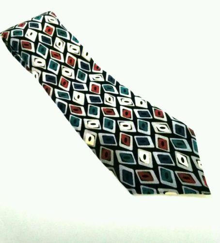JE SUIS Multi-Color 100% Silk Men's Neck Tie WPL 4075 Excellent
