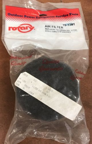 Rotary Foam Air Filter 19-1381 Replaces Tecumseh 31700. NOS