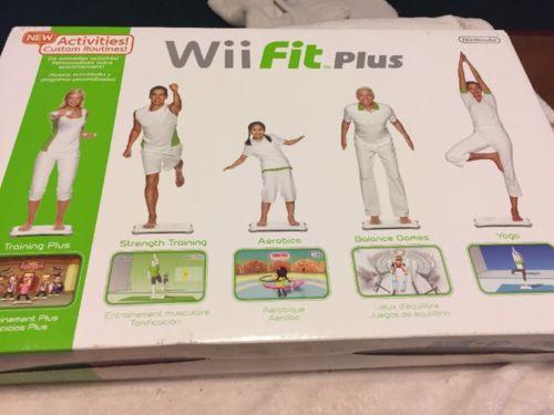 Wii Fit Plus Nintendo Balance Board - Aerobics-Yoga-Strength Training Etc. W/Box