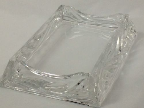 Cut Glass Note Card Holder
