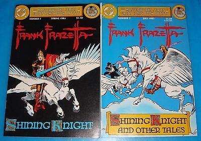 FRAZETTA ART! MASTERWORKS SERIES - SHINING KNIGHT Set of 2 #1-2 VF-NM DC 1983