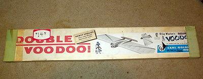 Vintage Carl Goldberg Double Voodoo Combat Stunt Airplane Kit - 36