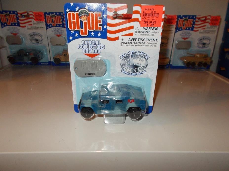 Maisto GI JOE Die-cast Collection - HUMVEE (Blue Camo) 1:40 w/dog tags