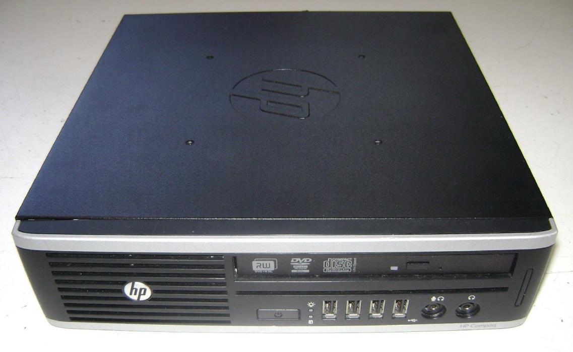 USED COMPAQ ELITE 8300 ULTRA SLIM DESKTOP COMPUTER PRO WINDOWS 7 SURPLUS AUCTION
