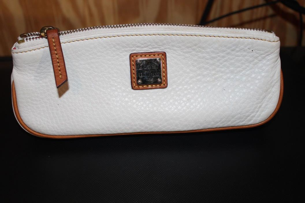 Dooney & Burke    small makeup bag   White leather