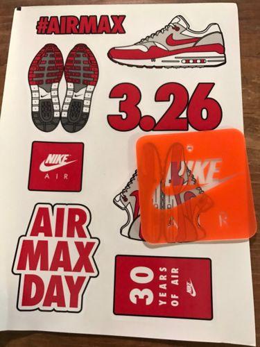 Nike Air Max Day 2017 OG 1 Anniversary Sticker Sheet And Nike Air Hang Tag