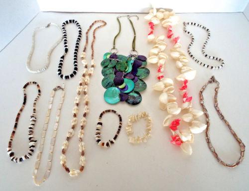 11 Vintage Modern Shell Necklaces Bracelets 8