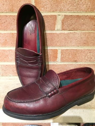 RED WING 6605 Men 10.5 EE Burgundy Leather Safety Steel Toe USA  Shoe