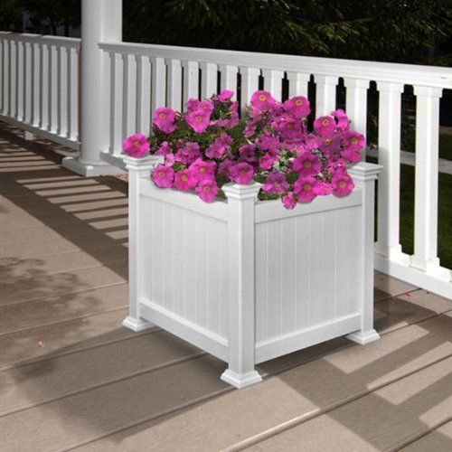 Planter Box White Vinyl 15
