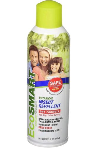 3 Pack EcoSMART Organic Insect, Mosquitoe, Ticks, Gnat Repellent 6oz Spray Can