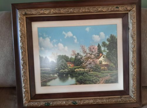 Antique picture and frame print read