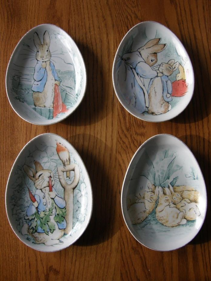 Set 4:Pottery Barn Kids Peter Rabbit Easter Ceramic Plate Set-1st Birthday Party
