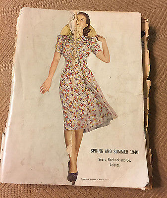Sears Roebuck and Co. 1940 Spring and Summer catalog, vintage,antique