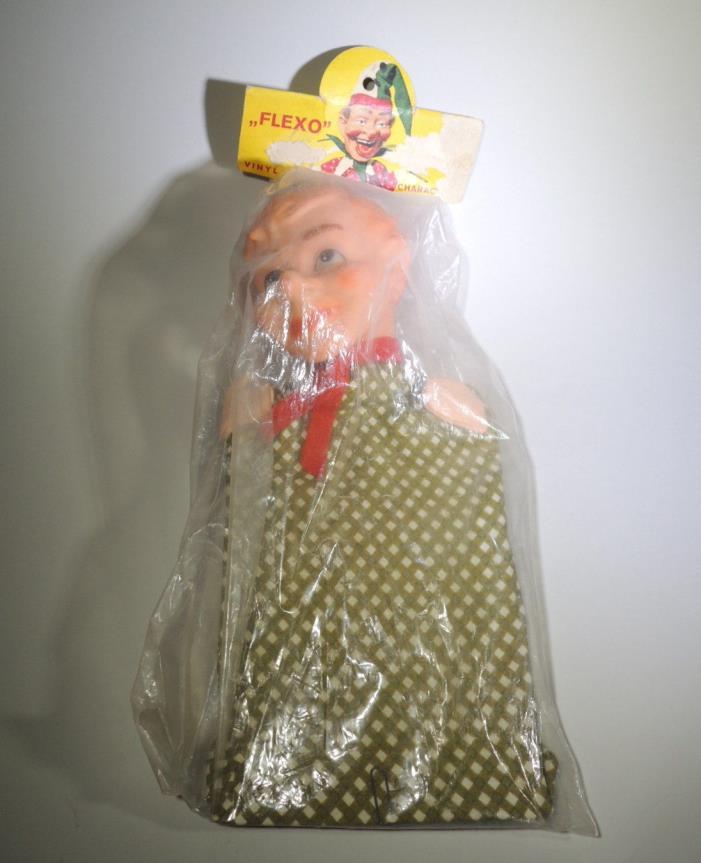 Vtg Toy c1960s German Hand Puppet FLEXO Clown Fool Jester by Scheithauer EUC