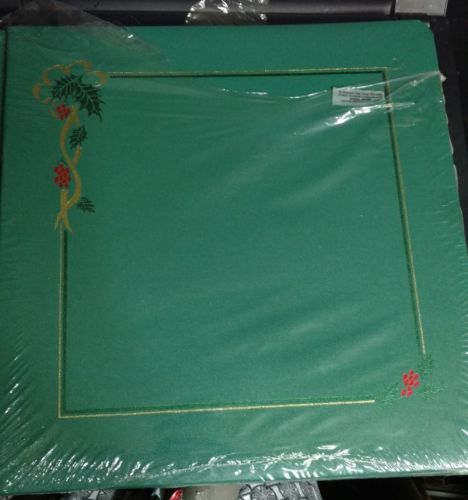 Creative Memories 12x12 green Holiday Christmas Album 15 sheet's NEW