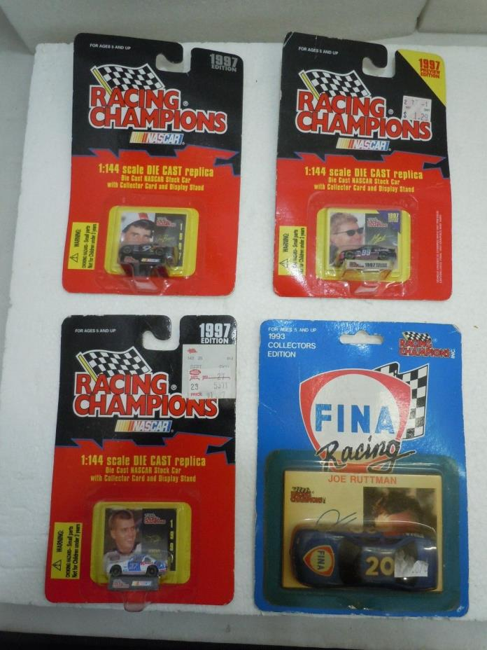 RACING CHAMPIONS RACE CAR LOT Vtg MIP Ruttman Bessey Burton Mayfield NASCAR FINA