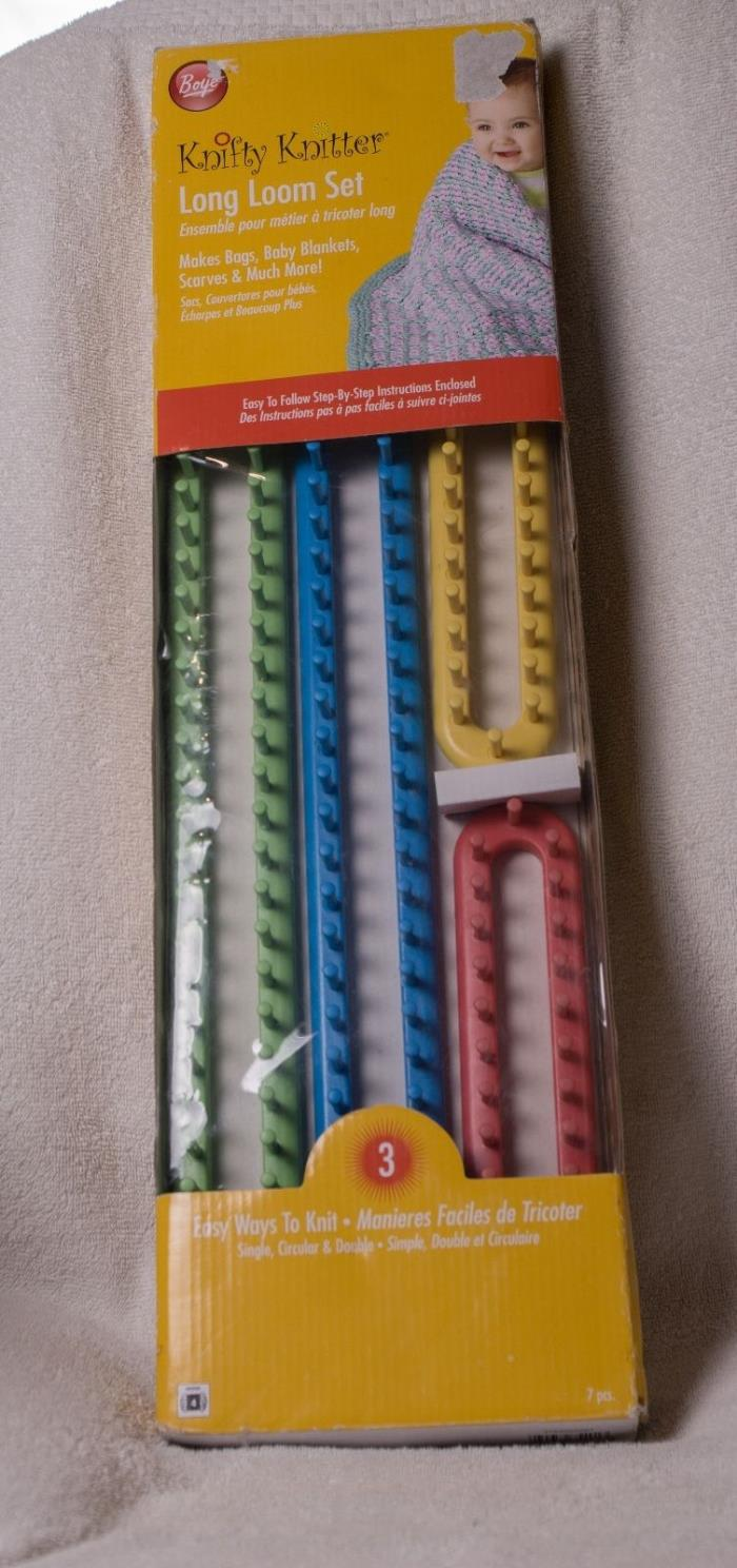Knifty Knitter Long Loom Knitting Set with 4 Looms