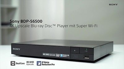 BDP-S6500 4K UHD Upscaling 3D Blu-Ray Player Built in Wi-Fi Netflix Apps