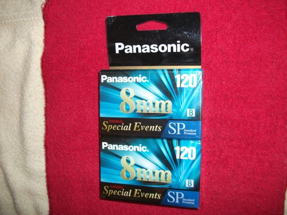 Panasonic Blank Camcorder Videotapes (2), 8mm, Standard Premium, 120 Min. - .New