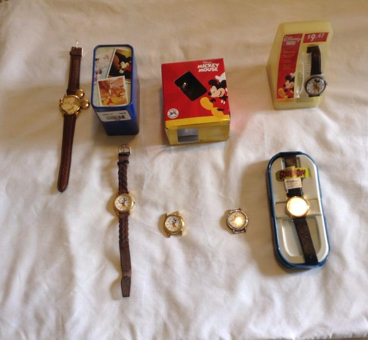 Mickey Mouse Womens Watches, Large Wall Clock and Mini Metal Lunch Box