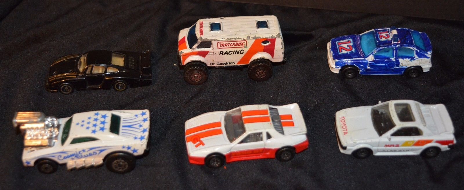SIX 1980s Matchbox Cars Chevy Van Pontiac Fiero Porsche Vauxhall Astra GTE Opel