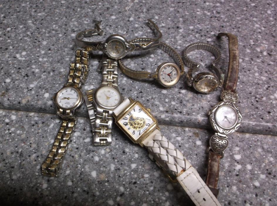 Collection of wrist watches express ,sergio,valenti  elgin alqua, kathy sharp