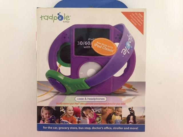 Tadpole Case and Headphones for Ipod Classic for kids Purple